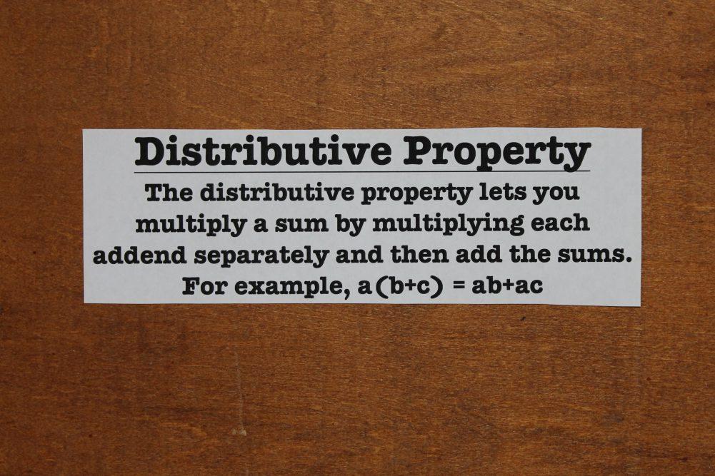 distributive property algebra