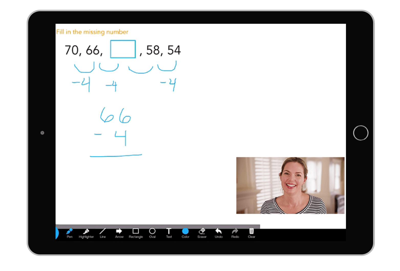 whiteboard tutoring session