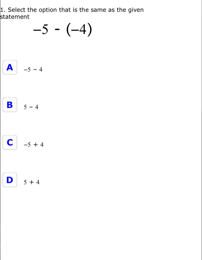 Thinkster Math CCSS Math Curriculum Canada Grade7 – Additive Inverse Worksheet